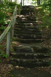 Steps take you back up to the parking lot