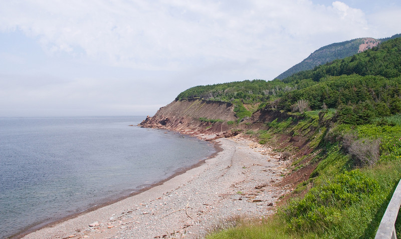 Back down to sea level again, before climbing French Mountain, this is the beach at the Corney Brook Camping Area