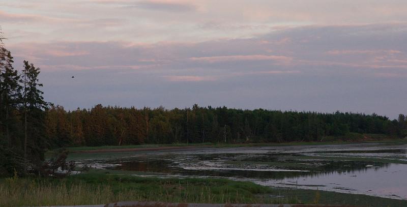 Views near the DeSable river near sunset.