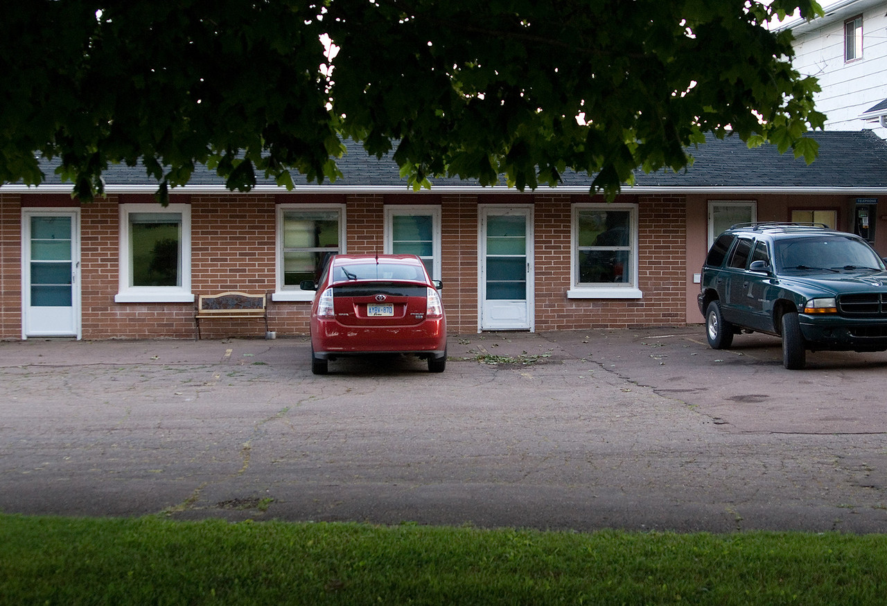 Our base of operations in PEI: The DeSable Motel.