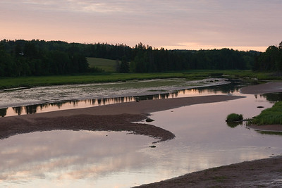 Views near the DeSable river near sunset.