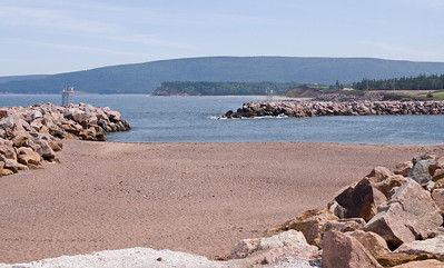The entrance to Dingwall harbour. While not visible here, there is a double break-water.