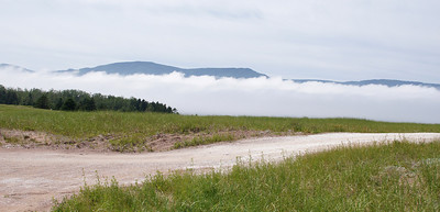 A fog bank rolling in towards Dingwall.