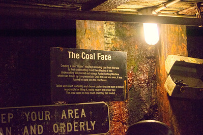 Info sign at the coal face
