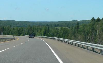 Motoring through New Brunswick.