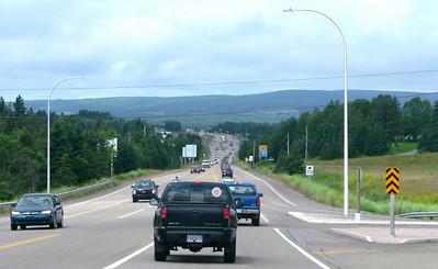 On our way home - motoring through Nova Scotia.