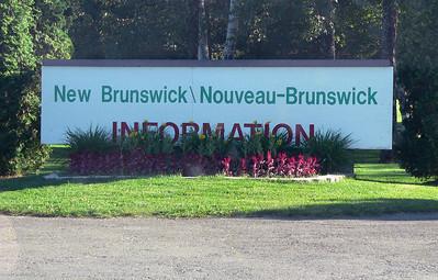 Into New Brunswick.