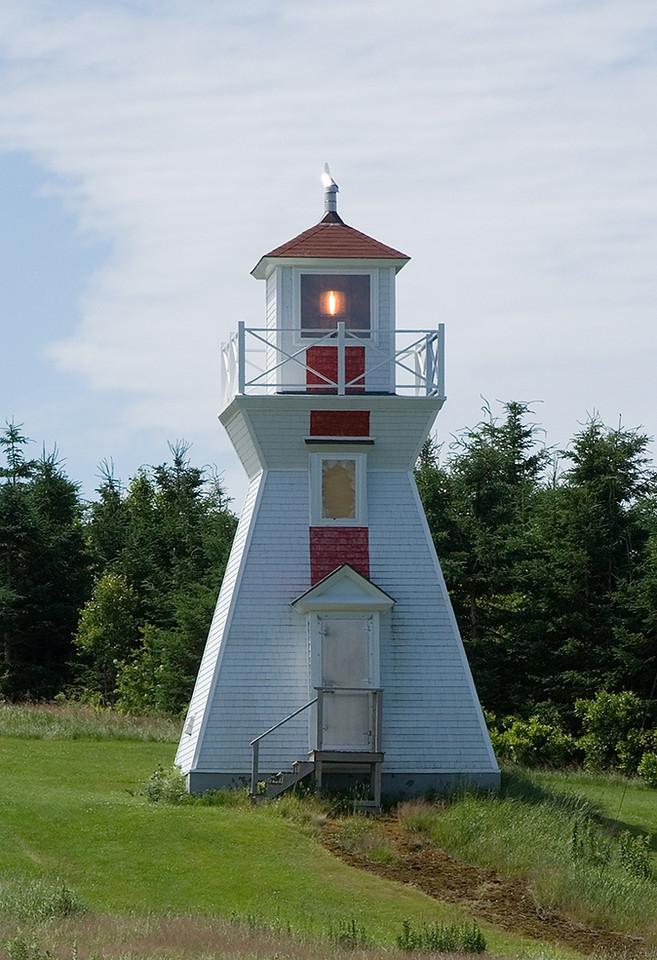 The Warren Cove Rear Range light.