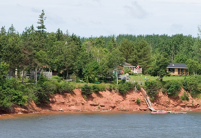 The beachfront along much of Warren Cove is privately owned.