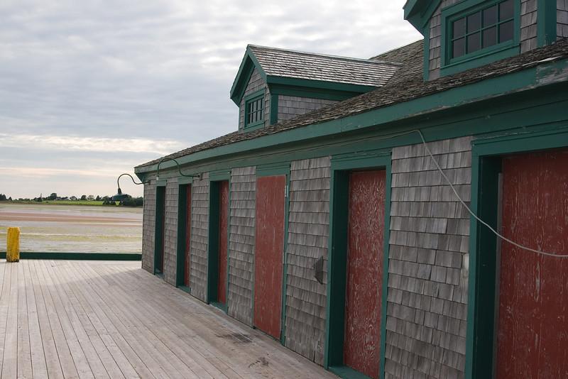 Buildings on the wharf.