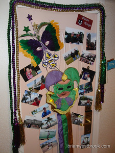Mardi Gras meets door decorations.  All photos (C) 2009 Brian M. Westbrook / brianwestbrook.com. For details: photos (AT) brianwestbrook (DOT) com