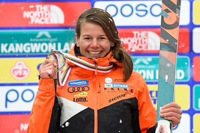 14-3-2017 SKIEN: 2017 WORLD PARA SKIEN WORLD CUP FINALS: PYEONGCHANG Anna Jochemsen. Downhill over all. Foto: Mathilde Dusol