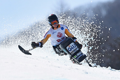 17-3-2017 SKIEN: 2017 WORLD PARA SKIEN WORLD CUP FINALS: PYEONGCHANG Barabara van Bergen. Reuze slalom. Foto: Mathilde Dusol