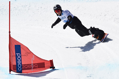 10-3-2017 SNOWBOARDEN: 2017 WORLD PARA SNOWBOARD  WORLD CUP FINALS: PYEONCHANG Chris Vos wint goud. Cross. Foto: Mathilde Dusol 10-3-2017 SNOWBOARDEN: 2017 WORLD PARA SNOWBOARD  WORLD CUP FINALS: PYEONCHANG Chris Vos wint goud. Cross. Foto: Mathilde Dusol
