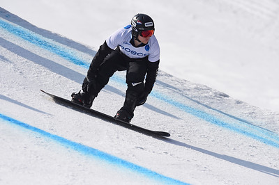 13-3-2017 SNOWBOARDEN: 2017 WORLD PARA SNOWBOARD WORLD CUP FINALS: PYEONGCHANG Goud voor Chris Vos. Foto: Mathilde Dusol