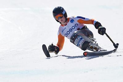 11-3-2017 SKIEN: 2017 WORLD PARA SNOWBOARD  WORLD CUP FINALS: PYEONGCHANG Training downhill. Jeroen Kampschreur. Foto: Mathilde Dusol