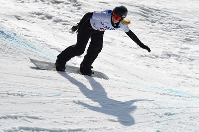 13-3-2017 SNOWBOARDEN: 2017 WORLD PARA SNOWBOARD WORLD CUP FINALS: PYEONGCHANG Brons voor Lisa Bunschoten. Foto: Mathilde Dusol