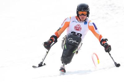 18-3-2017 SKIEN: 2017 WORLD PARA SKIEN WORLD CUP FINALS: PYEONGCHANG Niels de Langen. Slalom. Foto: Mathilde Dusol