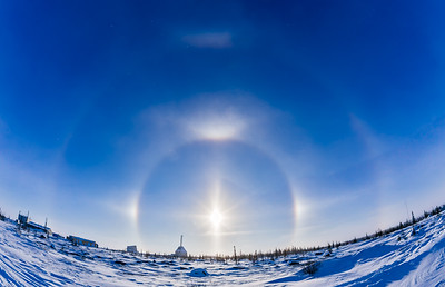 Solar Halo over Churchill Rocket Range