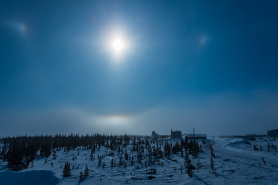 Solar Halo over the Churchill Rocket Range