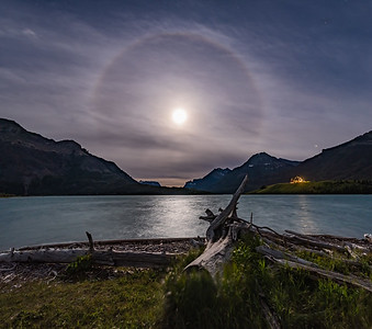 Halo Around the Solstice Moon