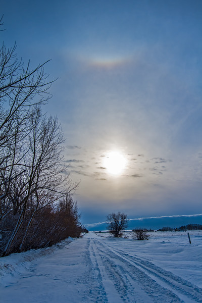 Solar Halo & Snowy Road #3