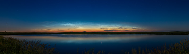 Noctilucent Clouds over Prairie Pond (June 24, 2018)