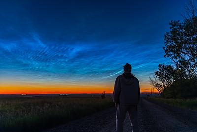 Selfie with Noctilucent Clouds v1