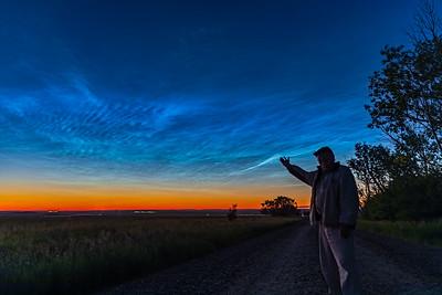 Selfie with Noctilucent Clouds v2