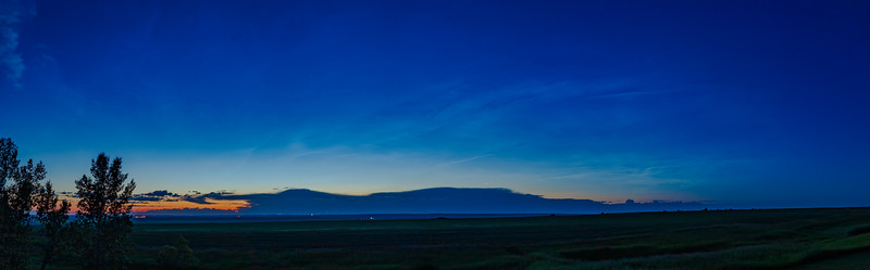 Noctilucent Clouds at Dawn Panorama (July 4, 2020)