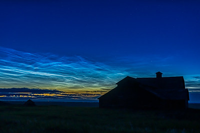 Noctilucent Clouds over the Old Barn on June 19, 2019