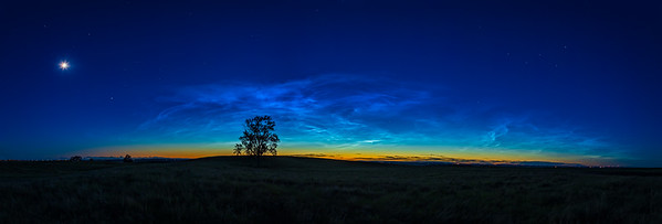 Noctilucent Clouds Wide-Angle Panorama (June 16, 2021)