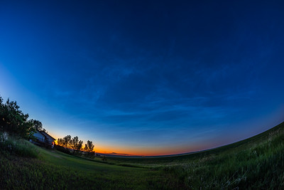 Noctilucent Clouds Over the Northern Sky (June 27, 2021)