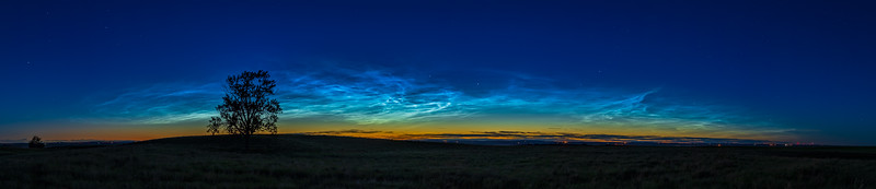 Arc of Noctilucent Clouds (June 16, 2021)