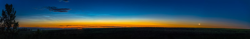 Noctilucent Clouds and the Rising Waning Moon