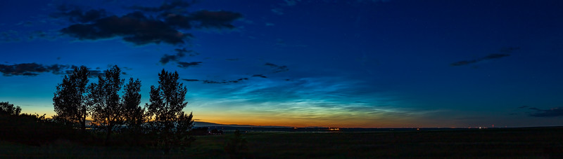 Noctilucent Clouds in Evening Sky Panorama (July 4, 2020)