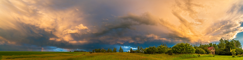 Stormcloud Panorama at Sunset