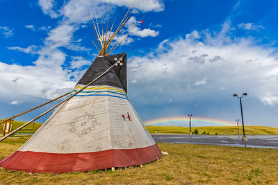 Siksika Tipi with Rainbow