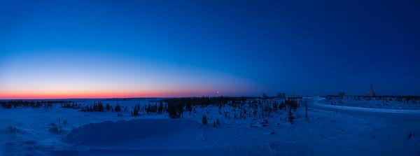 Moonrise at Dawn over the Rocket Range