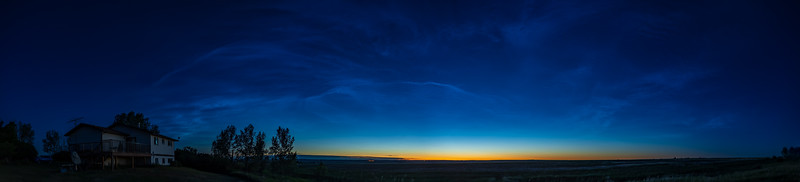 Noctilucent Clouds at Dawn (June 17, 2021)