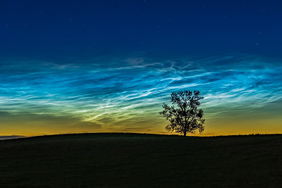 Noctilucent Clouds at One Tree Hill (June 16, 2021)