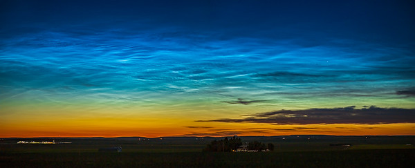 Noctilucent Clouds from Home (July 2, 2020)