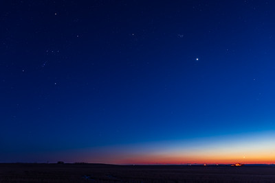 Orion and Venus at Dusk (March 25, 2020)