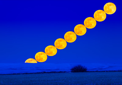 Rising of the Full Snow Moon 2021