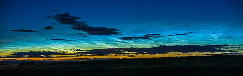 Noctilucent Clouds at Dawn Close-Up (June 1-2, 2020)
