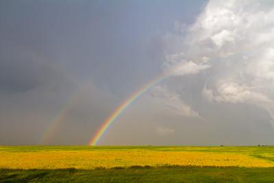 Hailstorm and Rainbow