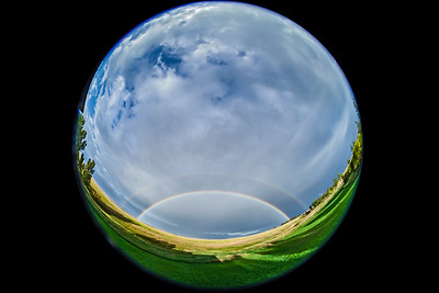 Fish-Eye Double Rainbow