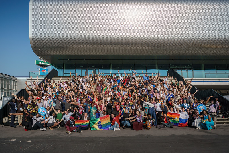 22nd International AIDS Conference (AIDS 2018) Amsterdam, Netherlands.  <br /> Copyright: Matthijs Immink/IAS<br /> <br /> AIDS2018 Scolarship Group Shot