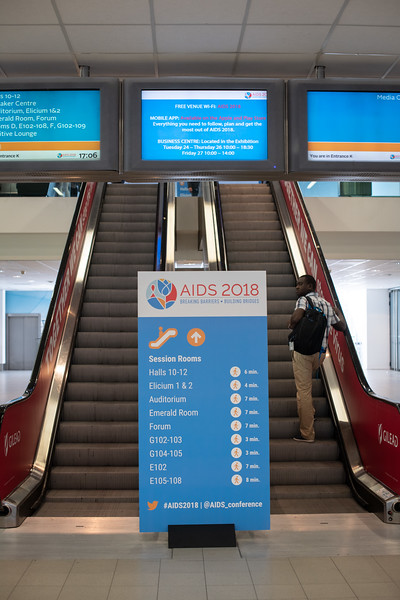 22nd International AIDS Conference (AIDS 2018) Amsterdam, Netherlands.  <br /> Copyright: Steve Forrest/Workers' Photos/ IAS<br /> <br /> Photo shows: General shots of the build-up of the conference.