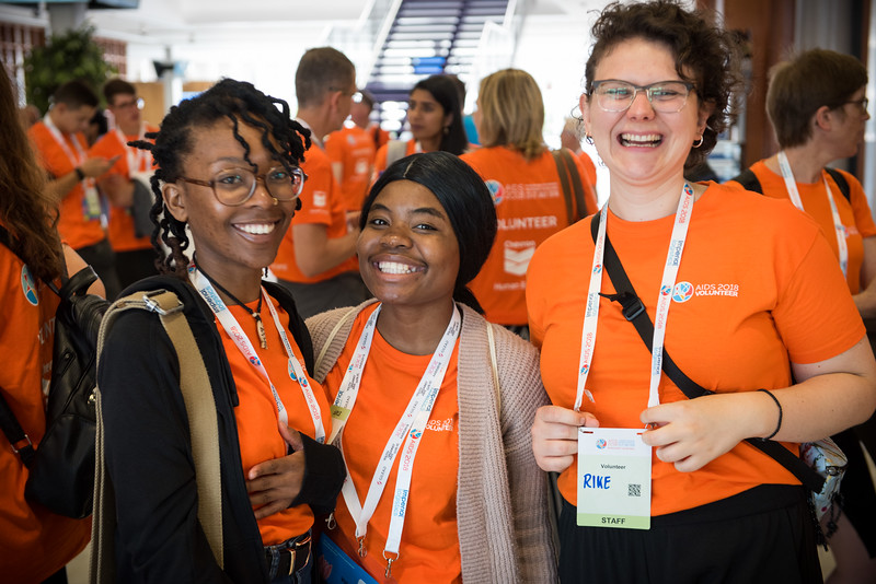 22nd International AIDS Conference (AIDS 2018) Amsterdam, Netherlands  <br /> Copyright: Marcus Rose/IAS<br /> <br /> Photo shows: Volunteers Kick-off Meeting